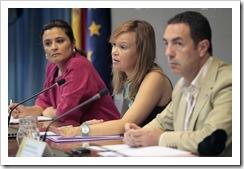 Laura Seara, Leire Pajín y Miguel Lorente