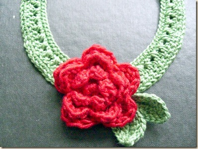Crochet Rose Choker 2