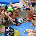 drinking on the beach with Heather and Jager9 - enoshima beach in japan in Fujisawa, Kanagawa, Japan