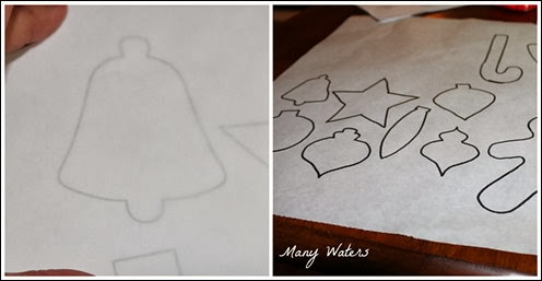 Many Waters Tracing Ornaments