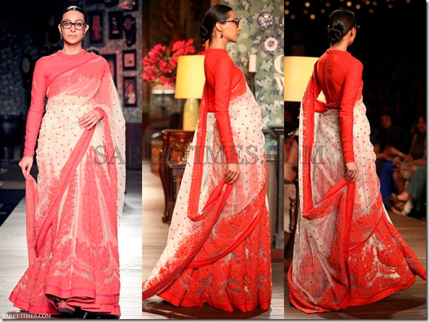 Sabyasachi_White_Red_Saree