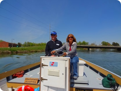 marsha driving boat