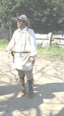 plimoth Plant pilgrim man in hat