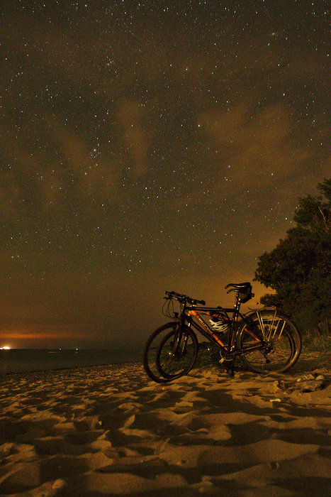 A night under the stars, on the empty beaches of the Baltic Sea.