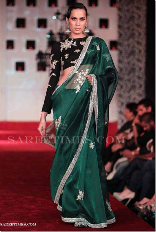 Sabyasachi_Green_Saree
