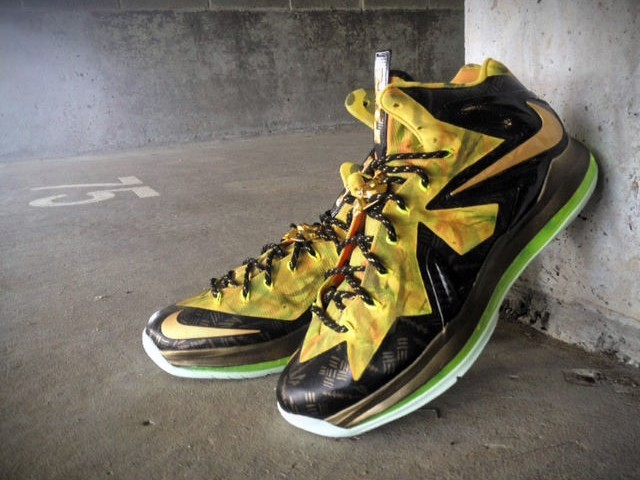 buy popular a6c31 63be4 ... Nike LeBron X PS Elite 82202x Champion8221 Custom by Mache ...