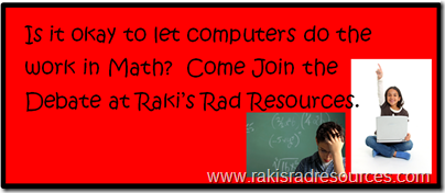 Is it okay to let computers do the work in math - professional development sunday at Raki's Rad resources