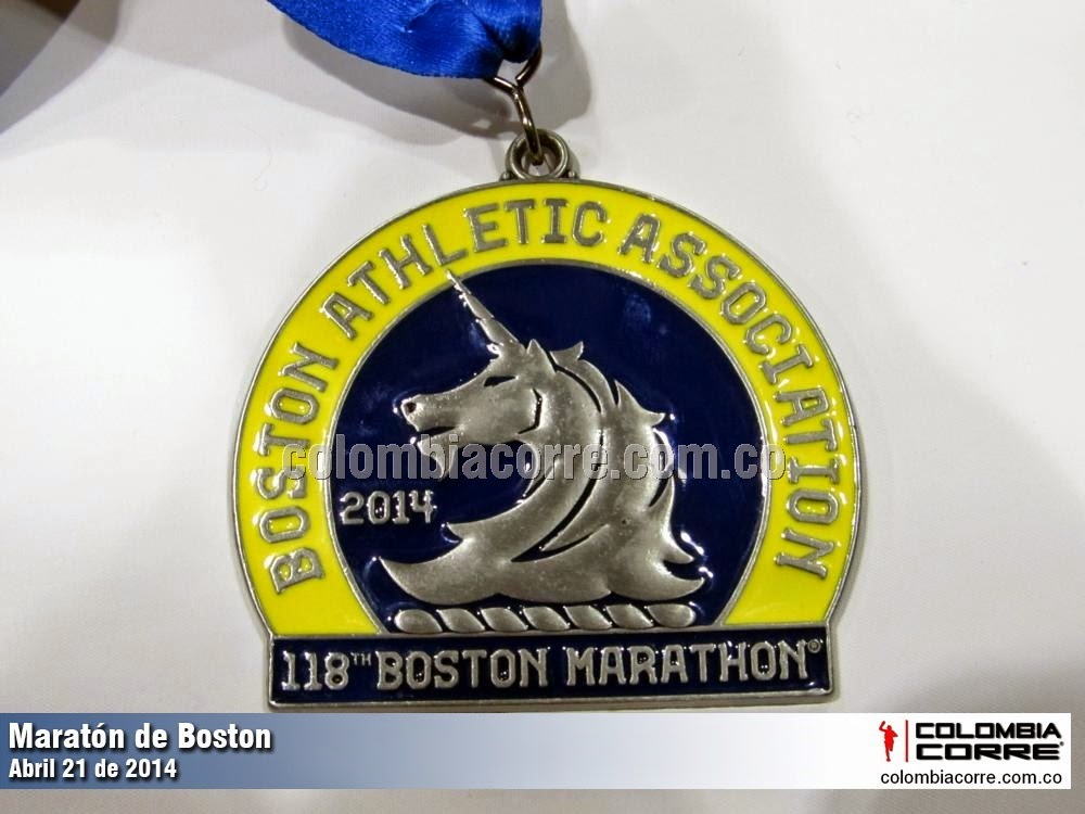 medalla maraton de boston