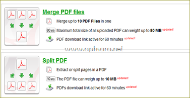 merge and split pdf file