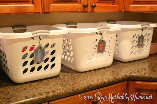 A great laundry system and printables @ ReMarkable Home