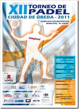 El XII Torneo de Pádel Ciudad de Úbeda se celebrará del 15 al 18 de septiembre de 2011.