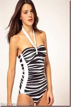 Baku Zebra Stripe Suit