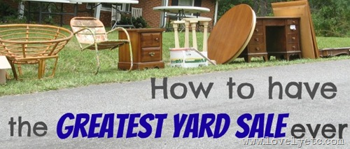 yard sale how to