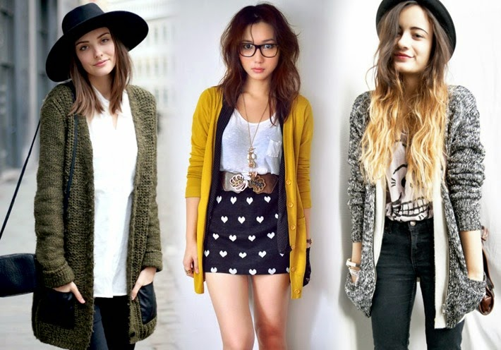cardigan fashion looks femininos inverno