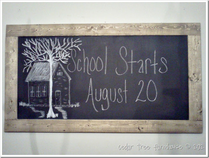 chalkboard homemade