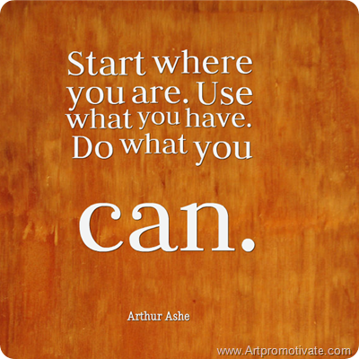 Image of: Motivational Arthur Ashe Quote Artpromotivate Positive Thinking Inspirational Quotes About Life And