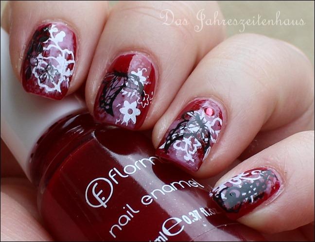 Floral Grunge Nails 5