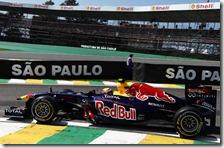Webber nelle prove libere del gran premio del Brasile 2011