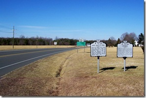 "Jack Jouett's Ride marker W-213 next to the ""Cuckoo"" marker on Route 522 & 33."