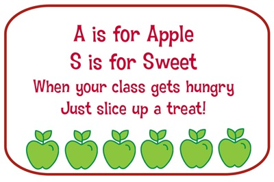 Apple Treat Card