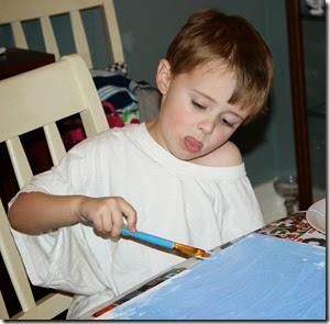Andrew painting