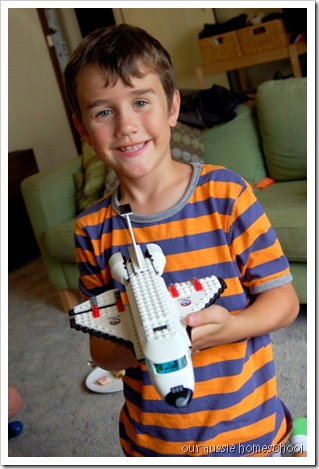 Lego Space Shuttle ~ Our Aussie Homeschool