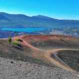 Butte Lake seen from the rim of the Cinder Cone