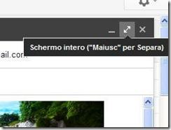 Gmail pulsante per passare alla composizione email a schermo intero