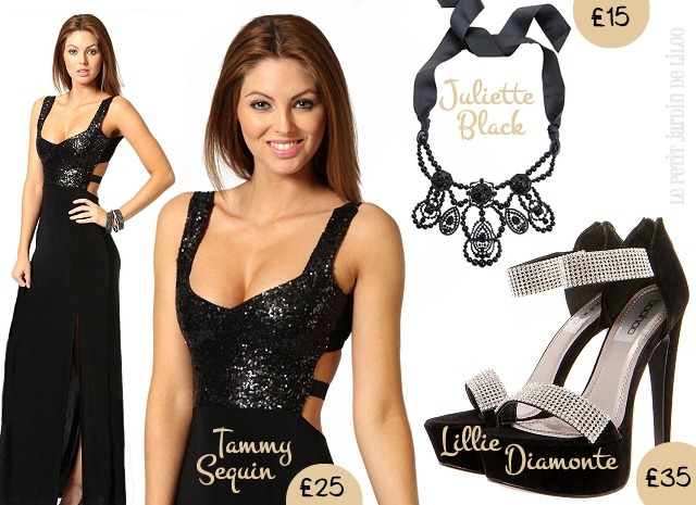 001-boohoo-tammy-sequin-dress-lillie-diamonte-shoes-juliette-black-gothick-necklace