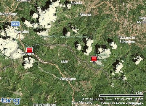 Mappa della zona oggetto dell'escursione