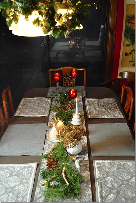 woodland style Christmas table
