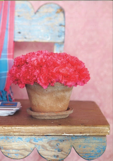 Carnations are a favorite and so is this image.