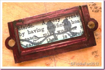 Tim Holtz inspired pin brooch