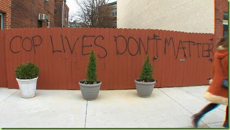 Cop Lives Dont Matter Graffiti