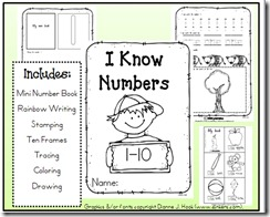 I Know Numbers 1-10 Activity Pic