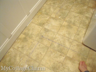chalk lines for peel n stick tile