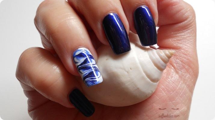 nail art - nailart - marble - soffiodidea - soffio di dea - onde -2a