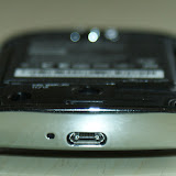 The bottom of the phone has the micro USB slot and the microphone
