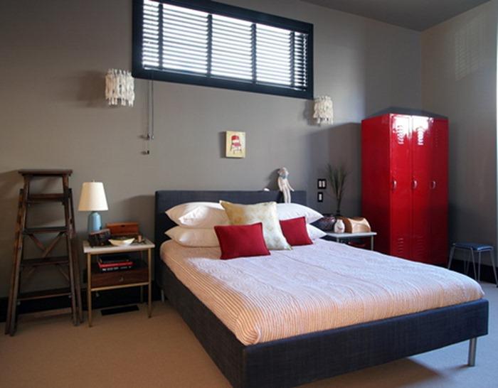 cinza e vermelho na decoração