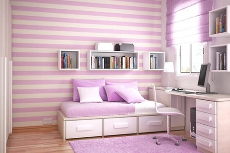 Bedroom Interior Design minimalist violet
