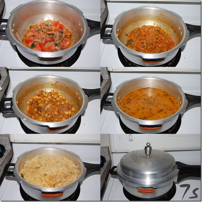 Channa pulao process