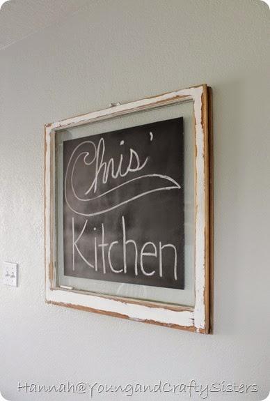 Window Pane Chalkboard 6
