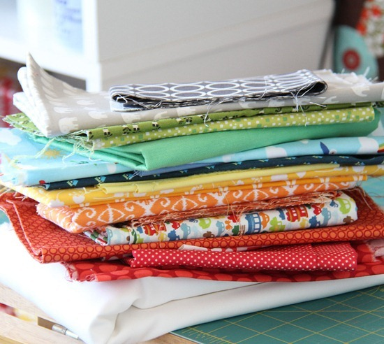 Fabrics for a rainbow quilt