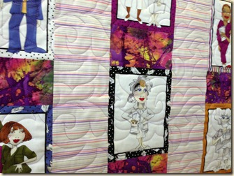 Nurse quilting closeup