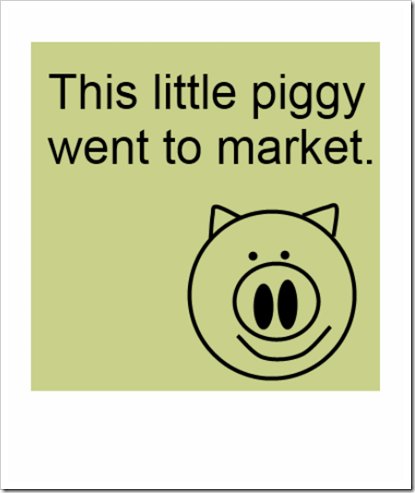 this piggy went to market