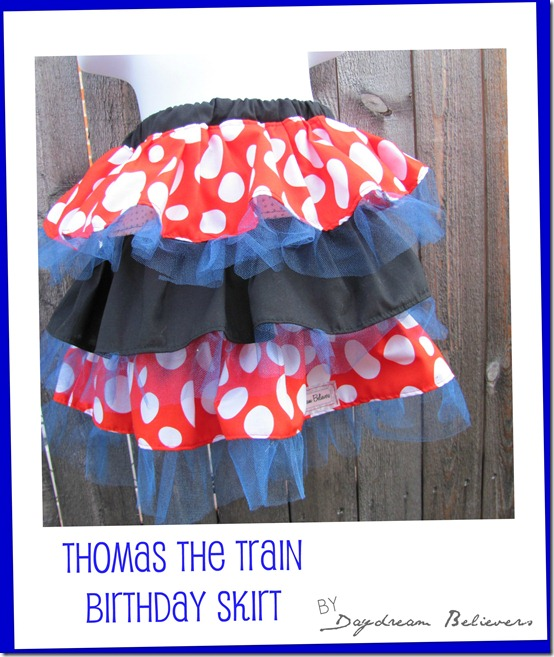 thomas the train birthday skirt