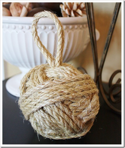 Sisal rope ball -sand and sisal