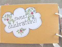 Cape Kellys birthday book sweet celebrations page