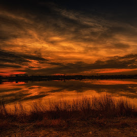 Last Breath  by Linda Karlin - Landscapes Sunsets & Sunrises ( sunset, landscape )
