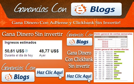 GANANCIAS CON BLOGS [ Curso en Video ] – Ganar dinero con tus blogs en internet, con Adsense y Clickbank, sin invertir un centavo